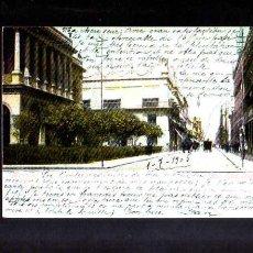 Postales: ANTIGUA POSTAL DE MEXICO. CALLE SAN FRANCISCO. CIRCULADA 1905. Lote 53003504