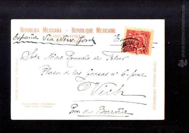 Postales: Antigua postal de Mexico. Calle San Francisco. Circulada 1905 - Foto 2 - 53003504