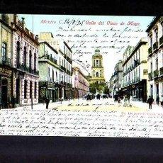 Postales: ANTIGUA POSTAL DE MEXICO. CALLE 5 DE MAYO. CIRCULADA 1905. Lote 53003527