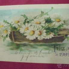 Postales: ANTIGUA POSTAL EN RELIEVE. FELIZ AÑO 1909. HAVANA. CUBA. 1908.. Lote 53488945