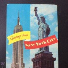 Postales: POSTAL NUEVA YORK , GREETINGS FROM NEW YORK, MANHATTAN POST CARD, CIRCULADA 1972.. Lote 53629754