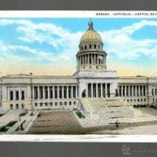 Postales: LA HABANA CAPITOLIO - POSTAL CIRCULADA DE BROOKLIN N.Y A BARCELONA MATASELLO MARCA POSTAL . Lote 53773030