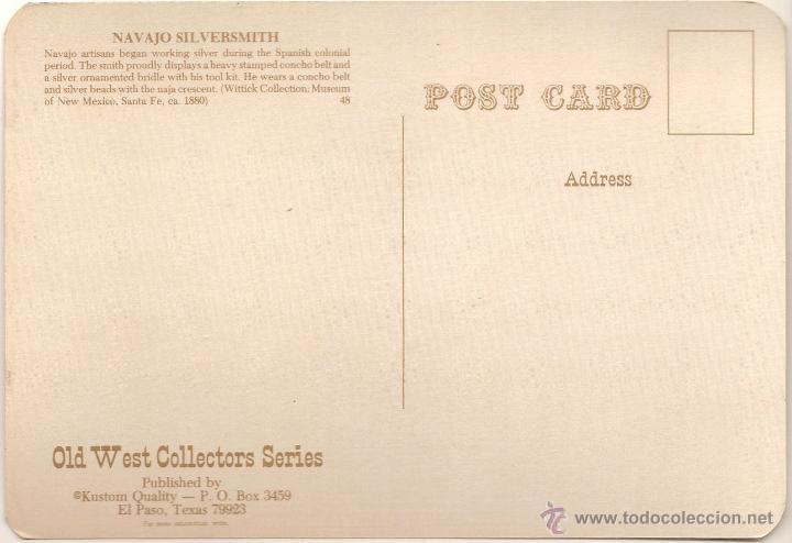 Postales: ANTIGUA POSTAL, NAVAJO SILVERSMITH - OLD WEST COLLECTORS SERIES - SIN CIRCULAR - Foto 2 - 53896548