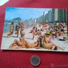 Postales: POSTAL POST CARD 4 RIO DE JANEIRO BRASIL PRAIA PLAYA BEACH COPACABANA EDITORA BRASILEIRA DE TURISMO . Lote 54288953