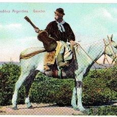 Postales: PS4941 REPÚBLICA ARGENTINA 'GAUCHO'. EDICIÓN Z. CIRCULADA EN 1911. Lote 166161968