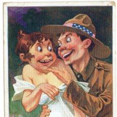 Postales: PS5033 POSTAL CARICATURESCA 'FLIRT I GUESS YOU'LL DO'. ILUSTRADA POR RIGHT. 1918. Lote 45922765