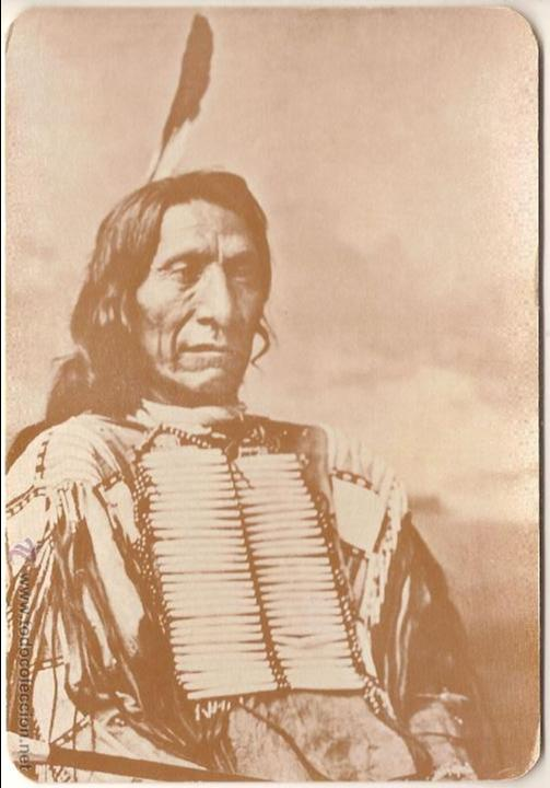 ANTIGUA POSTAL, RED CLOUD, JEFE SIOUX - OLD WEST COLLECTORS SERIES - SIN CIRCULAR (Postales - Postales Extranjero - América)