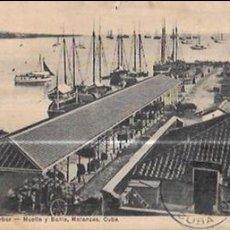 Cartes Postales: TARJETA POSTAL DE CUBA. MUELLE Y BAHÍA. MATANZAS.. Lote 56607593