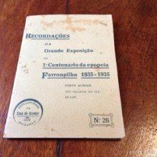 Postales: CARTAS POSTALES FOTOGRAFÍA CONMEMORATIVAS EXPOSICIÓN 1935 BRASIL. Lote 56655930