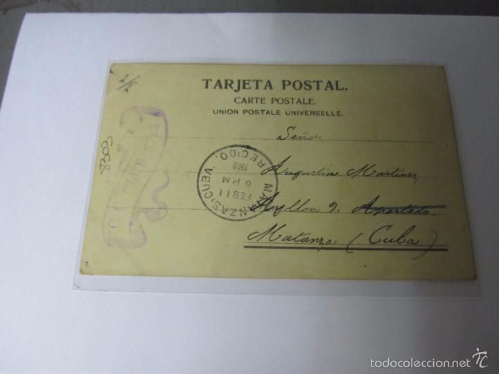Postales: TARJETA POSTAL BUENOS AIRES - AVENIDA DE MAYO. DIRIGIDA DESDE ARGENTINA A MATANZAS, CUBA - Foto 2 - 42518464