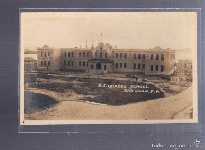 TARJETA POSTAL DE SAN JUAN, PUERTO RICO - GRADED SCHOOL. (Postales - Postales Extranjero - América)