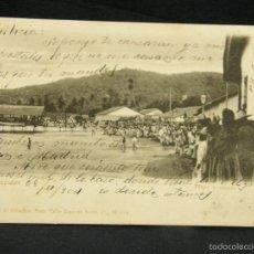 Postales: POSTAL PLAYA Y MUELLE ACAPULCO MEXICO RUBLAND MEXICO A OVIEDO ASTURIAS 1904. Lote 57669977