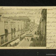 Postales: POSTAL MEXICO CALLES PLATEROS Y SAN FRANCISCO RUBLAND MEXICO A GIJÓN ASTURIAS 1904. Lote 57670459