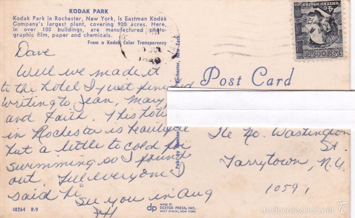 Postales: POSTAL KODAK PARK. ROCHESTER. NEW YORK. FABRICA EASTMAN KODAK COMPANY - CIRCULADA - Foto 3 - 57683514