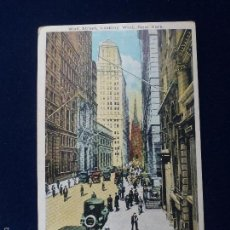 Postales: POSTAL. WALL STREET. LOOKING WEST. NEW YORK. Lote 60996207