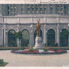 Postales: ENTRANCE TO UNION STATION. CLEVELAND.1931 OHIO. I.C.F. 2646/176. LEROY F. ROUSH. Lote 62108840