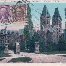 Postales: NEW YORK STATE HOSPITAL BUFFALO. R.E.C.P. 22515 LEONARD A REINGRUBER. Lote 62121588