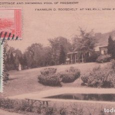 Postales: THE COTTAGE AND SWIMMING POOL OF PRESIDENT. FRANKLIN D ROOSEVELT HYDE PARK. N Y . R.E.C.P. 22515 LEO. Lote 62122924