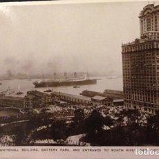 Postales: ANTIGUA POSTAL DE NEW YORK WHITEHALL BUILDING BATTERY PARK. Lote 63737119