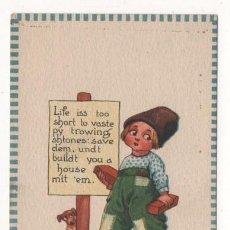 Postales: (ALB-TC-4) POSTAL INFANTIL MADE IN USA ESCRITA SIN SELLO 1912. Lote 63896735
