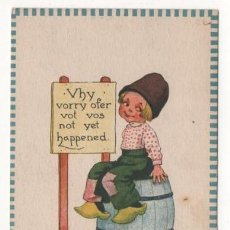 Postales: (ALB-TC-4) POSTAL INFANTIL MADE IN USA ESCRITA SIN SELLO 1912. Lote 63896787