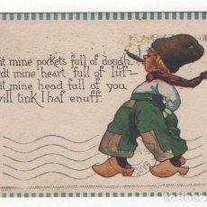 Postales: (ALB-TC-4) POSTAL INFANTIL MADE IN USA ESCRITA CON SELLO DETERIORADO 1912. Lote 63896939
