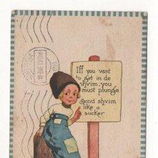 Postales: (ALB-TC-4) POSTAL INFANTIL MADE IN USA ESCRITA CON SELLO DETERIORADO 1912. Lote 63896963
