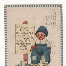 Postales: (ALB-TC-4) POSTAL INFANTIL MADE IN USA ESCRITA CON SELLO DETERIORADO 1913. Lote 63897015