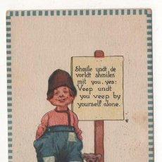 Postales: (ALB-TC-4) POSTAL INFANTIL MADE IN USA ESCRITA CON SELLO 1913. Lote 63897083