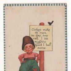 Postales: (ALB-TC-4) POSTAL INFANTIL MADE IN USA ESCRITA SIN SELLO 1913. Lote 63897107