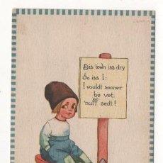 Postales: (ALB-TC-4) POSTAL INFANTIL MADE IN USA ESCRITA SIN SELLO 1913. Lote 63897191