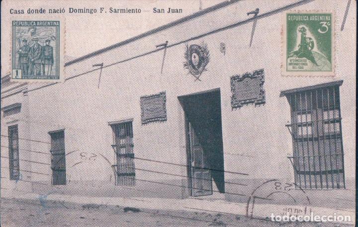 CASA DONDE NACIO DOMINGO F. SARMIENTO. SAN JUAN. LUDOVIGO A MIKKAN ICF 1466 (Postales - Postales Extranjero - América)