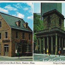 Postales: POSTAL * BOSTON , OLD CORNER BOOK STORE - KING'S CHAPEL *. Lote 67412165