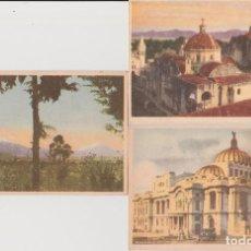 Postales: 3 POSTALES DE PROMOCIÓN DE LOTERÍA NACIONAL MÉXICO, 1947. Lote 68365133