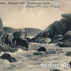 Postales: SANTOS.GUARUJÁ.RECREIO DAS PEDRAS.. Lote 68470225