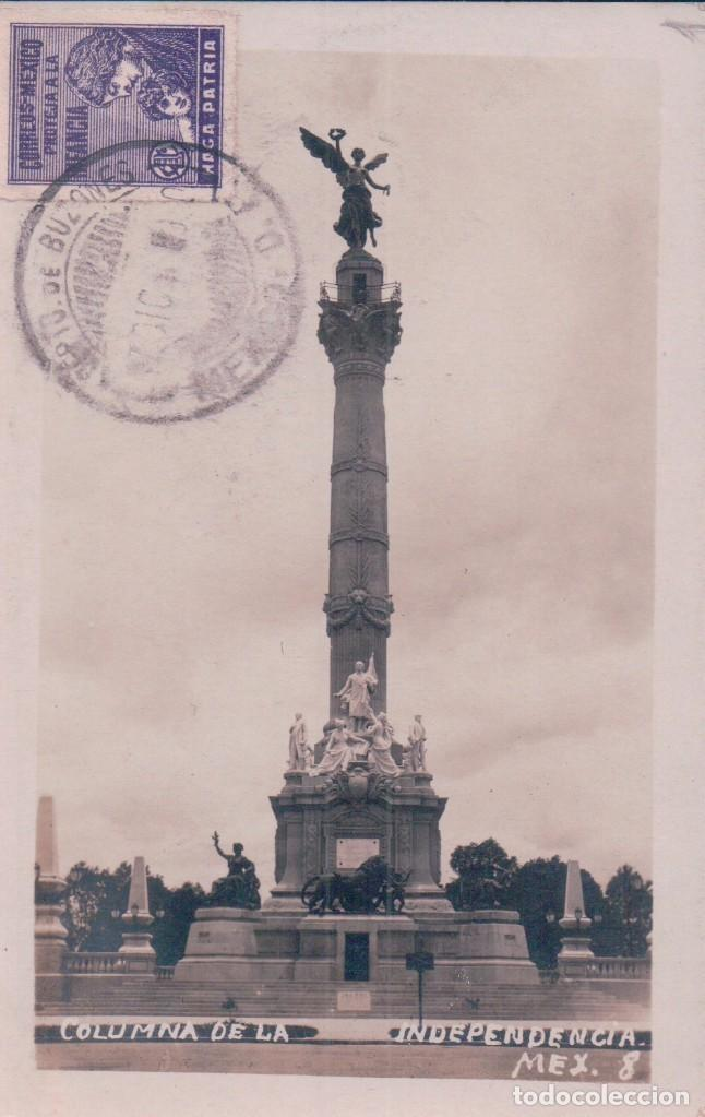 FOTO POSTAL COLUMNA DE LA INDEPENDENCIA. MEXICO - SELLO INFANCIA - (Postales - Postales Extranjero - América)