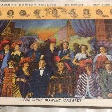 Postales: POSTAL VINTAGE. ACTORES DEL BOWERY CABARET, NUEVA YORK, USA. AÑOS 40. COMO NUEVA.. Lote 71807763