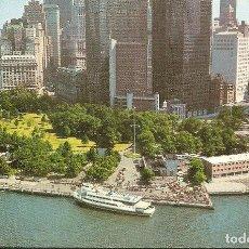 Postales: POSTAL, NEW YORK, BATTERY PARK WITH LOWER NEW YORK SKYLINE, SIN CIRCULAR. Lote 72130015