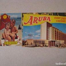 Postales: BLOC ÁLBUM POSTALES DE ARUBA. RECUERDO DE ARUBA. IMPRESO EN EE.UU. AÑOS 50.. Lote 73592183