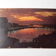 Postales: TYPICAL SUNSET VIEW OF THE CONDADO LAGOON, SAN JUAN, PUERTO RICO. Lote 84673196