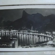 Postales: RÍO DE JANEIRO. BOTAFOGO DE NOITE. ESCRITA EN 1947. Lote 75554131