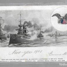Postales: TARJETA POSTAL DE PUERTO RICO, EEUU - BOMBARDEO EN SAN JUAN. 1898. WAR SERIES A. Nº 4. Lote 75970779