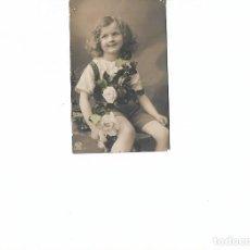 Postales: PRECIOSA POSTAL CIRCULADA CIRCA 1917 ARGENTINA. NIÑA FLORES. Lote 78341365
