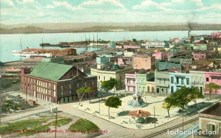 PUERTO RICO. SAN JUAN. VISTA GENERAL Y PUERTO. AÑO 1909 (Postales - Postales Extranjero - América)