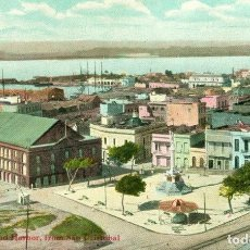 Postales: PUERTO RICO. SAN JUAN. VISTA GENERAL Y PUERTO. AÑO 1909. Lote 154785757