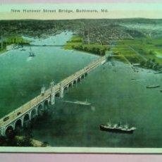 Postales: POSTAL USA 1919 NEW HANOVER STREET BRIDGE BALTIMORE. Lote 80133266