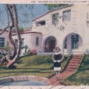 Postales: POSTAL 878 DOLORES DEL RIO AT HER BEAUTIFUL HOME IN HOLLYWOOD - 1A - H437 - CIRCULADA. Lote 81738296