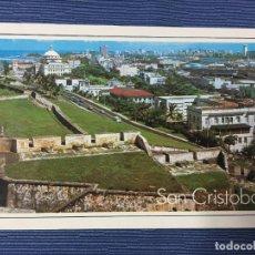 Postales: POSTAL PUERTO RICO, LAS ANTIGUAS MURALLAS DE EL CASTILLO SAN CRISTOBAL. Lote 84686412