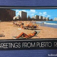 Postales: POSTAL PUERTO RICO, ISLA VERDE BEACH. Lote 84686588