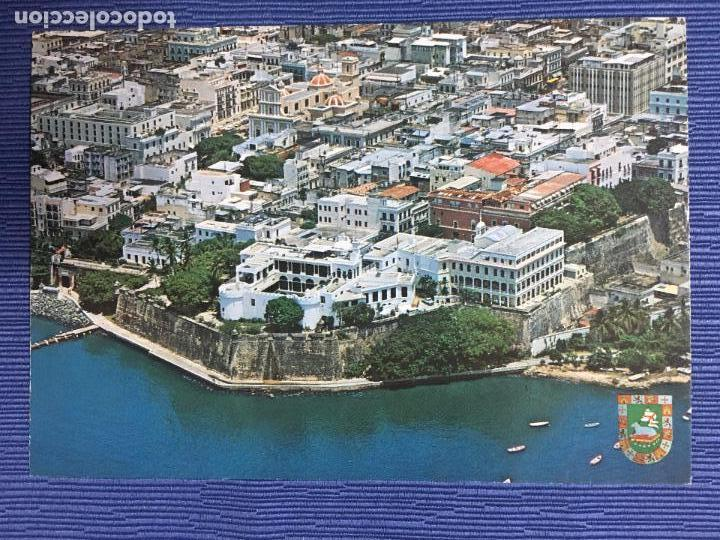 POSTAL PUERTO RICO, OLD SAN JUAN, VISTA AEREA DEL VIEJO SAN JUAN (Postales - Postales Extranjero - América)